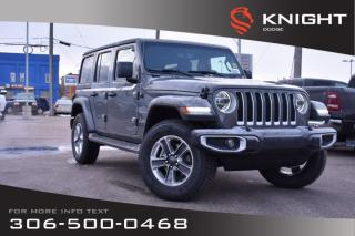 Used 2019 Jeep Wrangler Unlimited Sahara Turbo | Leather | Navigation | Remote Start for sale in Swift Current, SK