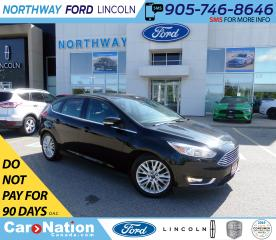Used 2018 Ford Focus Titanium | HTD LEATHER | PUSH START | SUNROOF | for sale in Brantford, ON