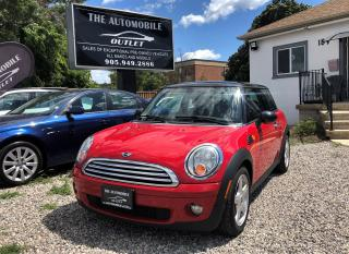 Used 2009 MINI Cooper COOPER PANO SUNROOF LEATHER NO ACCIDENT for sale in Mississauga, ON