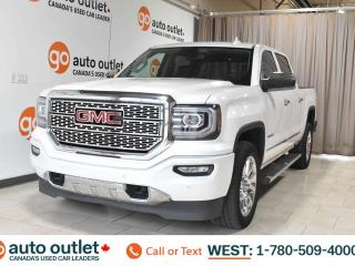 Used 2017 GMC Sierra 1500 Denali, 5.3L V8, Crew cab, Short box, Navigation, Heated/Cooled leather seats, Backup camera, Sunroof, Bluetooth for sale in Edmonton, AB