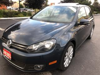 Used 2013 Volkswagen Golf Wolfsburg Edition TDI SUNROOF HEATED SEATS NO ACCI for sale in Concord, ON