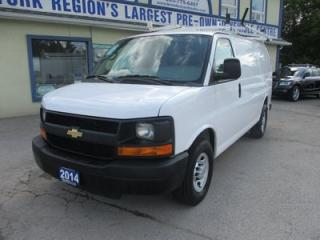 Used 2014 Chevrolet Express 3/4 TON WORK READY 2 PASSENGER 4.8L - VORTEC.. SHORTY.. CARGO-SHELVING.. ROOF-RACKS.. MIDDLE BARN DOORS.. TOW SUPPORT.. for sale in Bradford, ON