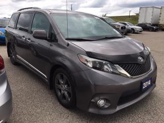Used 2014 Toyota Sienna SE - SUNROOF|POWER DOORS|BLUETOOTH for sale in Ancaster, ON