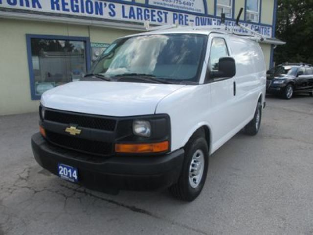 2014 Chevrolet Express 3/4 TON WORK READY 2 PASSENGER 4.8L - VORTEC.. SHORTY.. CARGO-SHELVING.. ROOF-RACKS.. MIDDLE BARN DOORS.. TOW SUPPORT..