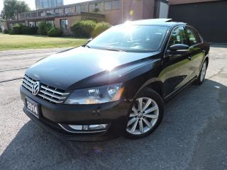Used 2014 Volkswagen Passat Navi/Leather/Sunroof/RevCamera/RemoteStart for sale in BRAMPTON, ON