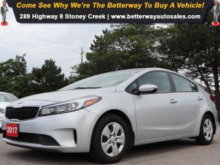 Used 2017 Kia Forte LX| 1 Owner| Gas Saver| B-Tooth| Keyless Ent for sale in Stoney Creek, ON