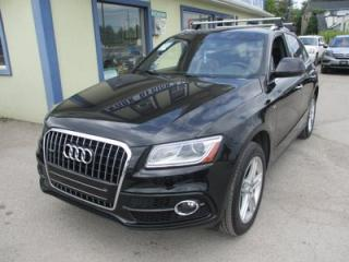 Used 2015 Audi Q5 TFSI QUATTRO S-LINE MODEL 5 PASSENGER 2.0L - DOHC.. NAVIGATION.. LEATHER.. HEATED SEATS.. BACK-UP CAMERA.. PANORAMIC SUNROOF.. for sale in Bradford, ON