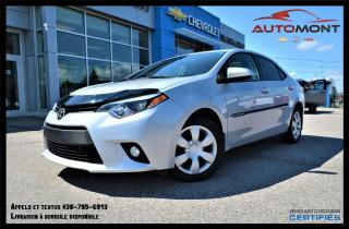 Used 2014 Toyota Corolla LE + TOIT OUVRANT + DÉMARREUR À DISTANCE for sale in Mont-Laurier, QC