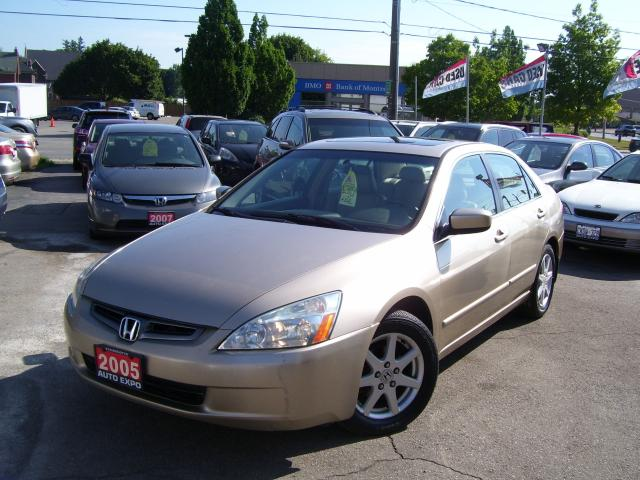 2005 Honda Accord EX-L,FULLY LOADED,CERTIFIED,CLEAN CARFAX,COLD A/C,