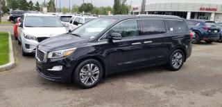 Used 2020 Kia Sedona SX tech; 8PASS, BLUETOOTH, ADVANCED SAFTEY, LEATHER, BACKUP CAM, HEATED SEATS, SUNROOF AND MORE for sale in Edmonton, AB