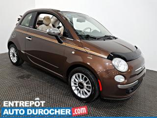 Used 2012 Fiat 500 DÉCAPOTABLE Automatique - AIR CLIMATISÉ - Cuir for sale in Laval, QC