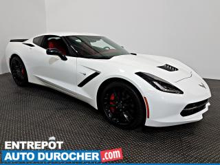 Used 2016 Chevrolet Corvette Z51 3LT NAVIGATION Automatique, T- TOP  CUIR for sale in Laval, QC