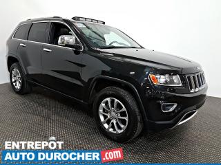 Used 2016 Jeep Grand Cherokee Limited 4X4 TOIT OUVRANT Automatique - A/C - CUIR for sale in Laval, QC