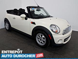 Used 2013 MINI Cooper CONVERTIBLE AIR CLIMATISÉ - Groupe Électrique - Cuir for sale in Laval, QC