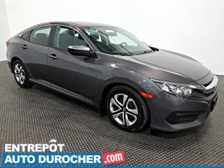 Used 2016 Honda Civic Sedan LX - AIR CLIMATISÉ - SIÈGES CHAUFFANTS for sale in Laval, QC
