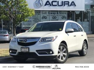 Used 2016 Acura MDX Elite SH-AWD, Vented Seats, Park Sensors for sale in Markham, ON