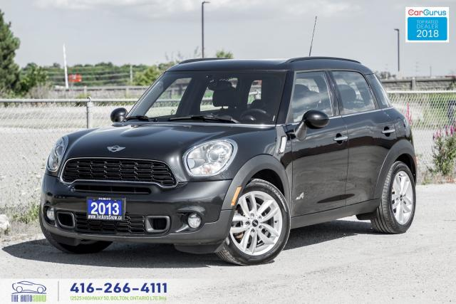 2013 MINI Cooper Countryman S ALL4 M-6 AWD 1owner CleanCarfax CertifiedFinance