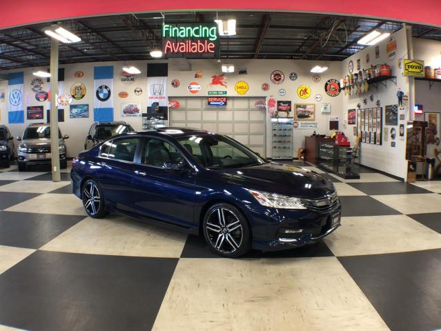 2016 Honda Accord Sedan TOURING AUT0 NAVI LEATHER SUNROOF CAMERA 94K