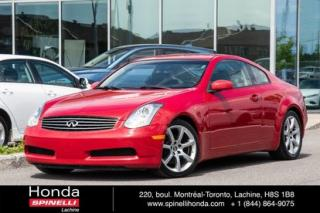 Used 2006 Infiniti G35 SPORT CUIR TOIT MAGS 8 PNEUS COUPE CUIR TOIT MAGS++ for sale in Lachine, QC