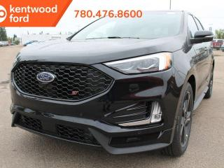 New 2019 Ford Edge ST 401A AWD 2.7L V6, Power Heated Leather Seats, Auto Start/Stop, Lane Keeping System, Pre-Collision Assist, Remote Vehicle Start, Reverse Camera and Sensing System, Trailer Tow Pkg for sale in Edmonton, AB