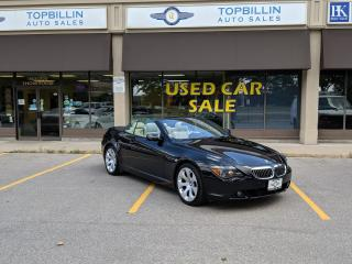 Used 2007 BMW 6 Series 650i Convertible, Clean CarFax for sale in Vaughan, ON