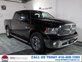 Used 2017 RAM 1500 Laramie 4x4 Crew Short Bed Leather Sun Certified for sale in Toronto, ON