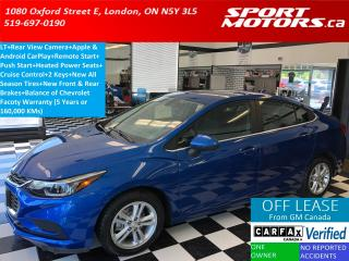 Used 2016 Chevrolet Cruze LT+Apple Play+Camera+New Tires & Brakes+RMT Start for sale in London, ON