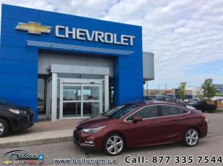 Used 2016 Chevrolet Cruze Premier  - Leather Seats - $130 B/W for sale in Bolton, ON