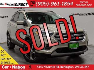 Used 2017 Ford Escape SE| 4X4| NAVI| PANO ROOF| BACK UP CAM & SENSORS| for sale in Burlington, ON