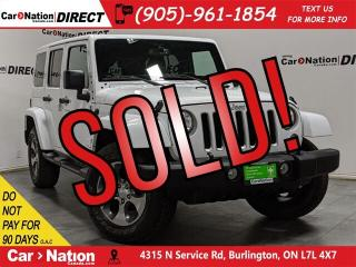 Used 2017 Jeep Wrangler Unlimited Sahara| 4X4| NAVI| LEATHER| BACK UP CAM| for sale in Burlington, ON
