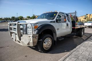 Used 2016 Ford F-550 Chassis XLT 6.7L POWERSTROKE V8 DIESEL, 4x4 Super Duty, Flatdeck for sale in Okotoks, AB