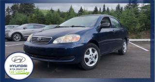 Used 2006 Toyota Corolla 4 portes, Berline, CE Manuelle for sale in Val-David, QC