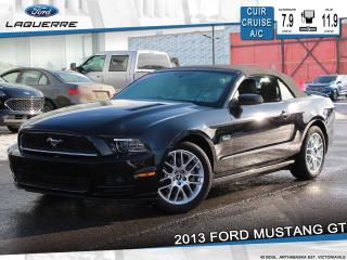 Used 2013 Ford Mustang GT CONVERTIBLE**CUIR*CRUISE*BLUETOOTH*A/C** for sale in Victoriaville, QC