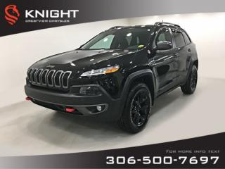 Used 2018 Jeep Cherokee Trailhawk Leather Plus 4x4 V6 | Sunroof | Navigation | Remote Start for sale in Regina, SK
