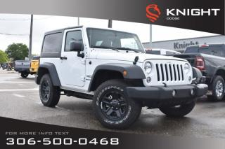 Used 2018 Jeep Wrangler JK Sport | Very Low KMs | for sale in Swift Current, SK