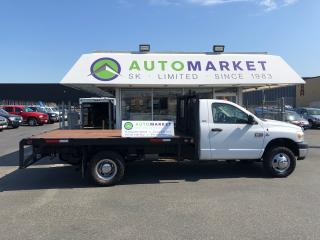 Used 2008 Dodge Ram 3500 4WD FLATDECK! FREE BCAA! SUPER CLEAN TRUCK! for sale in Langley, BC