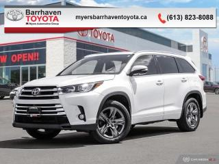 Used 2017 Toyota Highlander Limited  - Navigation -  Sunroof - $280 B/W for sale in Ottawa, ON