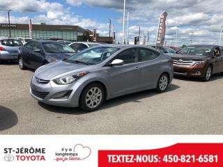 Used 2016 Hyundai Elantra * AUTOMATIQUE * AIR * SIÈGES CHAUFFANT * for sale in Mirabel, QC
