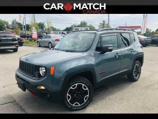Used 2015 Jeep Renegade TRAILHAWK / NAV / LEATHER / ROOF for sale in Cambridge, ON