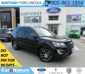 Used 2017 Ford Explorer Sport | AWD | NAV | LEATHER | PANOROOF | 3 ROW | for sale in Brantford, ON