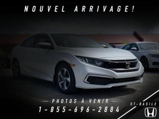 Used 2019 Honda Civic CIVIC + LX + MANUEL + DÉMO + PRIX DE FIN DE SAISON ! for sale in St-Basile-le-Grand, QC
