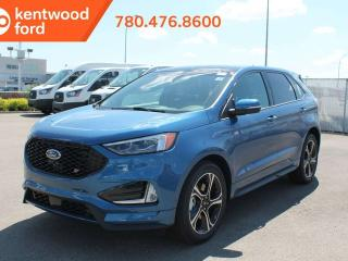 New 2019 Ford Edge ST 401A, AWD, 2.7L GTDI V6, Power Heated/Cooled Seats, Heated Steering Wheel, Auto Start/Stop, Lane Keeping System, Pre-Collision Assist, Remote Vehicle Start, Reverse Camera and Sensing System, Trailer Tow Pkg, Navigation, Sunroof for sale in Edmonton, AB