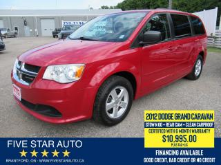 Used 2012 Dodge Grand Caravan SE *Clean Carproof* Certified w/ 6 Month Warranty for sale in Brantford, ON