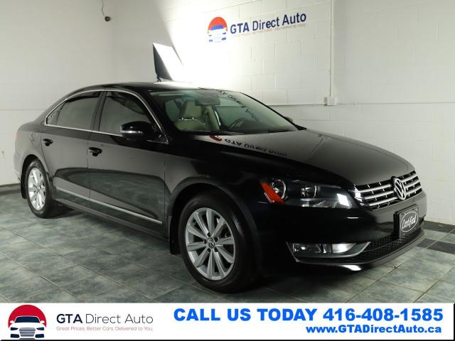 2014 Volkswagen Passat Highline TDI Nav Camera Sunroof Leather Certified
