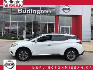 Used 2016 Nissan Murano SV, FWD, MOONROOF, 1 OWNER ! for sale in Burlington, ON