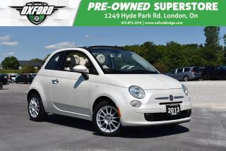 Used 2013 Fiat 500 C Pop - Convertible, FWD, Parksense for sale in London, ON