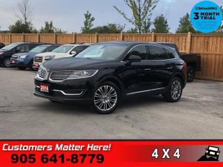 Used 2016 Lincoln MKX Reserve  RESERVE TECH NAV ROOF 360-CAM for sale in St. Catharines, ON