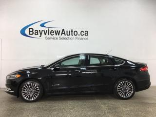 Used 2018 Ford Fusion Hybrid Titanium - HTD LEATHER! SUNROOF! NAV! ALLOYS! FULL PWR GROUP! for sale in Belleville, ON