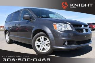 Used 2018 Dodge Grand Caravan Crew Plus | Leather | Low KMs | Navigation | Heated Seats for sale in Swift Current, SK