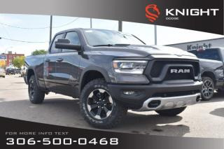 Used 2019 RAM 1500 Rebel Quad Cab | Heated Seats and Steering Wheel | Sunroof | Remote Start for sale in Swift Current, SK